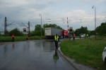Dopravná nehoda kamióna na železničnom priecestí