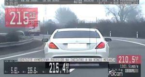 Záhorák za rýchlosť 215km/h dostal pokutu 800 EUR!