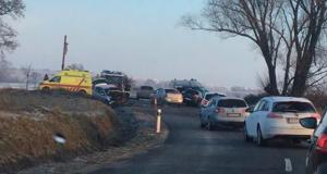 Vážna dopravná nehoda na ceste medzi obcami Holíč a  Petrova Ves!